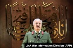 Халифа Хафтар выступает с речью в Бенгази и объявляет себя единственным правителем Ливии. 27 апреля 2020 года