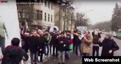 Berlində azərbaycanlı fəalların aksiyası. 18yan2017