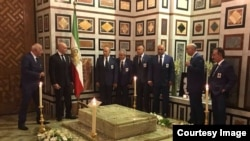 Mohammad Reza Shah's tomb in Cairo. Photo from the Shah's memorial service anniversary, July 27, 2017