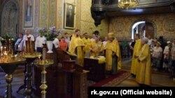 Молебень на славу міста в соборі Святого благовірного князя Олександра Невського в Ялті 11 серпня 2018 року