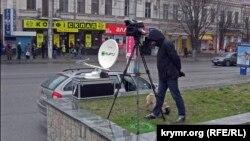 Российский репортер в Симферополе, архивное фото