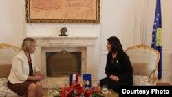Presidentja e Kosovës Atifete Jahjaga takon ministren e Jashtme të Kroacisë, Vesna Pusiq