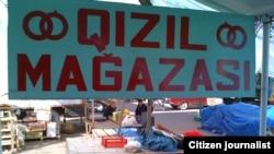 Balakən bazarında...