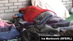 Migranti na Železničkoj stanici u Beogradu