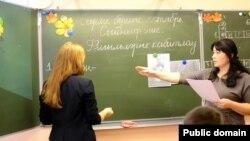 Мәктәптә татар теле дәресе