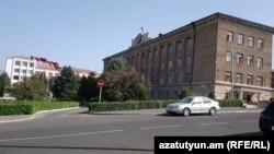 Nagorno-Karabakh - The main government buildings in Stepanakert, September 7, 2019.
