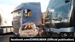 Інцидент трапився о 6:54 в Уманському районі на 225 км автодороги «Київ – Одеса»