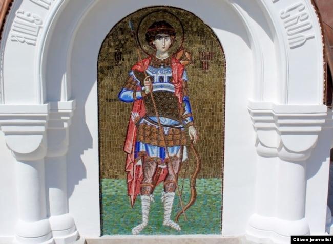 Бутхонанинг йўқолиб кетган мозаика фрескаси ҳам қайтадан тикланди.