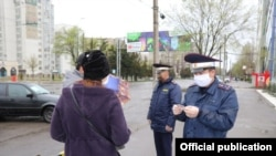 Kyrgyzstan - Coronavirus - Roadblock - Police Bishkek - state of emergency in Bishkek - 21.04.2020