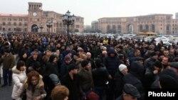 ՓՄՁ ներկայացուցիչների ցույցը Կառավարության շենքի դիմաց, Երևան, 29-ը հունվարի, 2015թ․