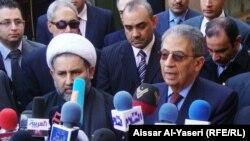 عمرو موسى يتحدث في النجف بعد لقائه السيستاني