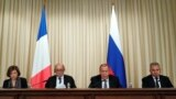 Întâlnirea miniștrilor francezi ai apărării şi de externe Florence Parly şi Jean-Yves Le Drian cu omologii lor ruşi Sergei Lavrov şi Sergei Şoigu