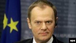 Президент Европейского совета Дональд Туск. Рига, 9 января 2015 года.