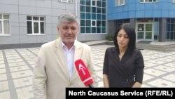 Вдова Земфира Цкаева и адвокат Виталий Зубенко