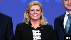 Croatian President Kolinda Grabar-Kitarovic probably wishes she hadn't said anything.