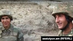 Военнослужащие Армии обороны Нагорного Карабаха во время боевого дежурства (архив)