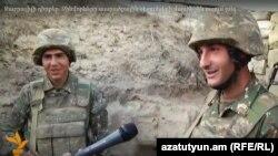 Հայ զինվորները շփման գծում, մայիս, 2016թ.