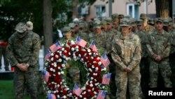 2001-жылдын 11-сентябрындагы окуялардын 16-жылдыгын АКШнын Кабулдагы аскерлери да эскеришти.