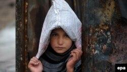 یک طفل افغان