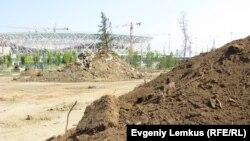 """Недалеко от бывшего Парка вдов строится стадион """"Волгоград-Арена"""""""