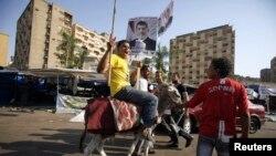 مؤيدون للرئيس المصري المعزول في رابعة العدوية