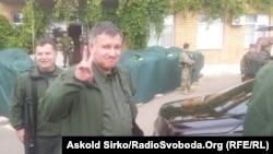 Ուկրաինայի ՆԳ նախարար Արսեն Ավակովն այցելել է Մարիուպոլ, 22 սեպտեմբերի, 2014թ.