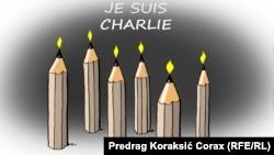 Рисунок сербского карикатуриста Предрага Коракшича