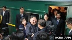 Հյուսիսային Կորեայի առաջնորդը գնացքով ժամանում է Չինաստան, հունվար, 2019թ․
