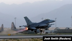 Авиабаза Баграм в Афганистане.