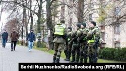 Військовослужбовці Нацгвардії чергують у центрі Києва, 21 листопада 2017 року