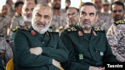 File photo - Iran's Revolutionary Guard senior officers.