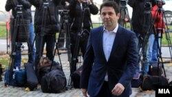 Архивска фотографија: Поранешниот министер за транспорт и врски, Миле Јанакиески пред Кривичниот Суд во Скопје