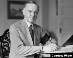 Calvin Coolidge, al 30-lea președinte american (Foto: Biblioteca Centrală Universitară, Iași)