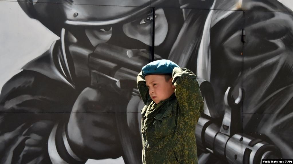 Военные соревнования в Балашихе, устроенные Росгвардией для кадетов и молодежи. 5 августа 2017