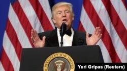ԱՄՆ նախագահ Դոնալդ Թրամփը ելույթի ժամանակ, Վաշինգտոն, 20-ը հունվարի, 2017թ․