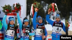 Russia won two relay medals in Hochfilzen in 2017.