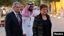 Управляващият директор на МВФ Кристалина Георгиева пристига за срещата на финансовите министри от Г-20 в Риад
