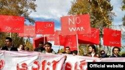 راهپیمایی در اعتراض به بازداشت دانشجویان .