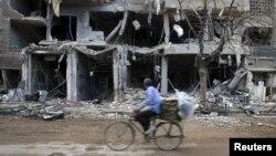 Detalj iz predgrađa Damaska u Siriji