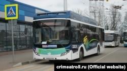 Электробус в Симферополе, март 2018 года