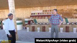Кадры из репортажа государственного ТВ Туркменистана о визите президента Гурбангулы Бердымухамедова в велаяты страны.
