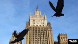 The headquarters of Russia's Foreign Ministry in Moscow. (file photo)