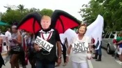 Marilyn Monroe, Clinton və Trump - Halloweendən görüntülər
