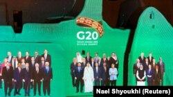 """Агентство Reuters распространило этот фотомонтаж под названием """"Семейная фотография"""" – к открытию 20 ноября 2020 года виртуального саммита """"Большой двадцатки"""""""