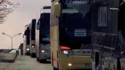 Više od 200 autobusa u protestnoj vožnji kroz Prištinu