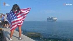 До Гавани прийшов перший за 40 років круїзний лайнер зі США (відео)