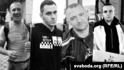 Аляксандар Тарайкоўскі, Аляксандар Віхор, Генадзь Шутаў і Раман Бандарэнка (зьлева направа)