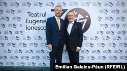 Petru Vutcărău cu Sergiu Prodan, ministrul Culturii