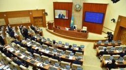 Kazakhstan - The first session of Mazhilis (Parliament's lower chamber). Nur-Sultan, 15 January 2021
