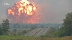 Вінниччина. Відео вибухів на артилерійських складах